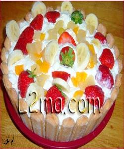 شارلوت الفواكهة و الموز