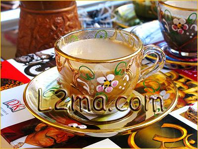 القهوة التركية بالحليب