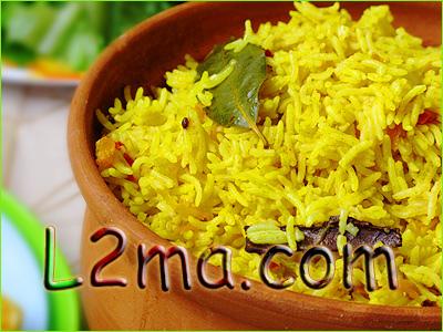 الأرز البسمتي الأصفر بالبهارت