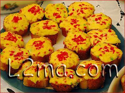 شرائح خبز بالجبنة و المايونيز