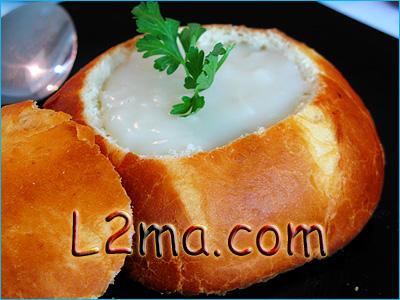 خبز  على شكل طبق الشوربة